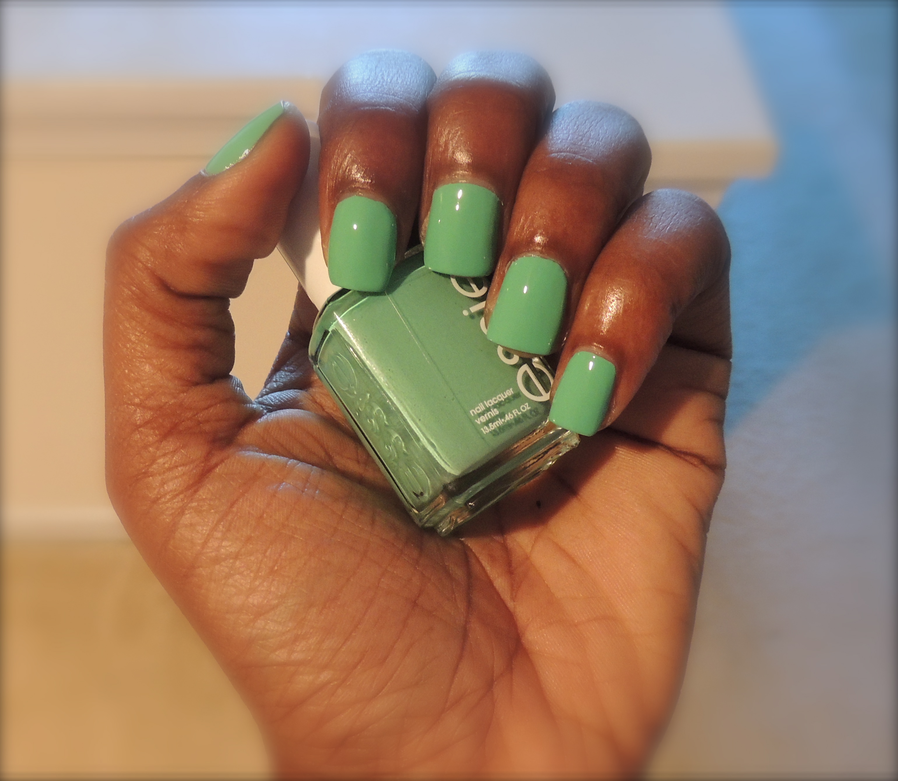 Essie First Timer Vs Mint Candy Apple