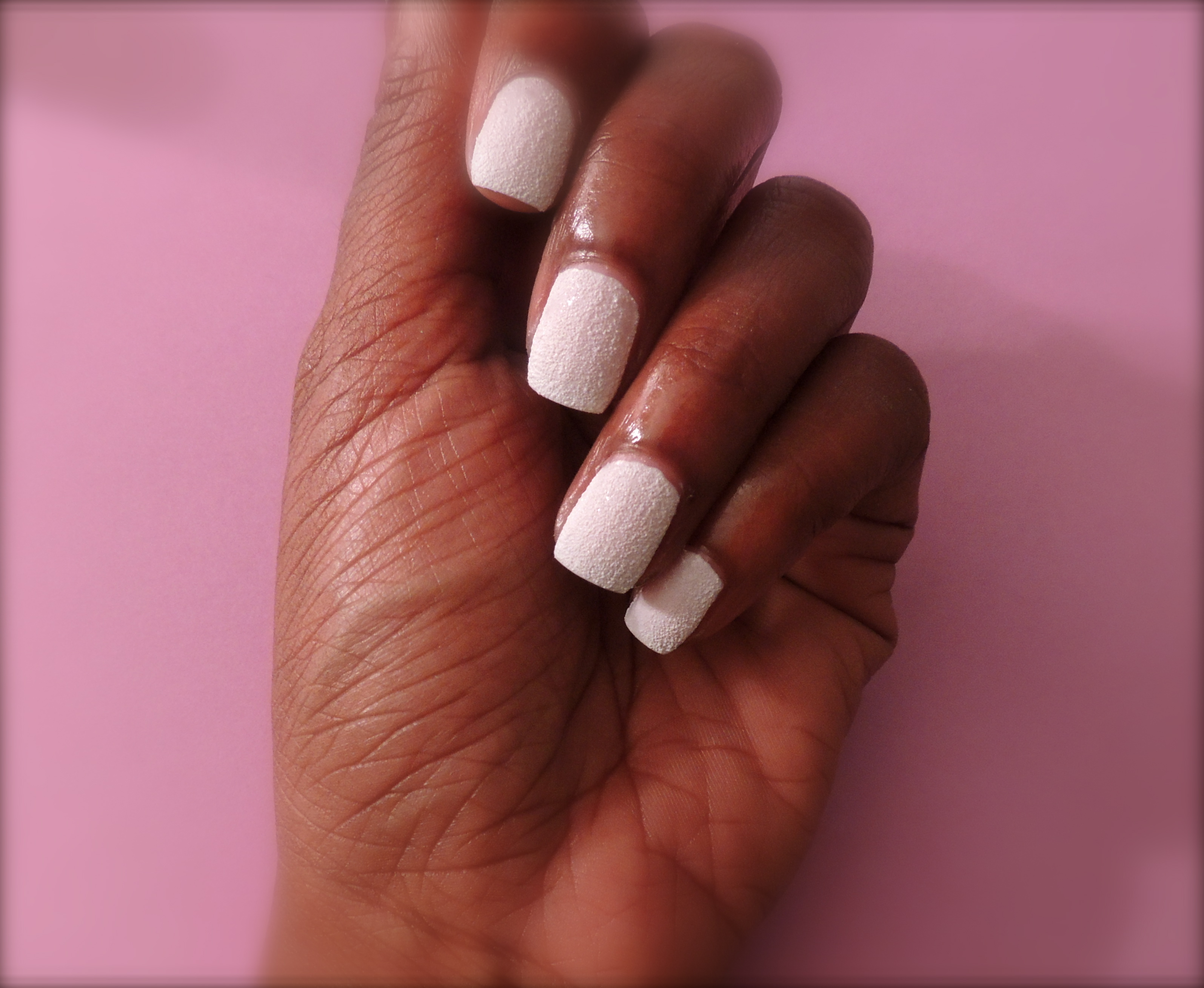 Sometimes White Nail Polish Can Look Very Harsh On Darker Complexions DSCN0419